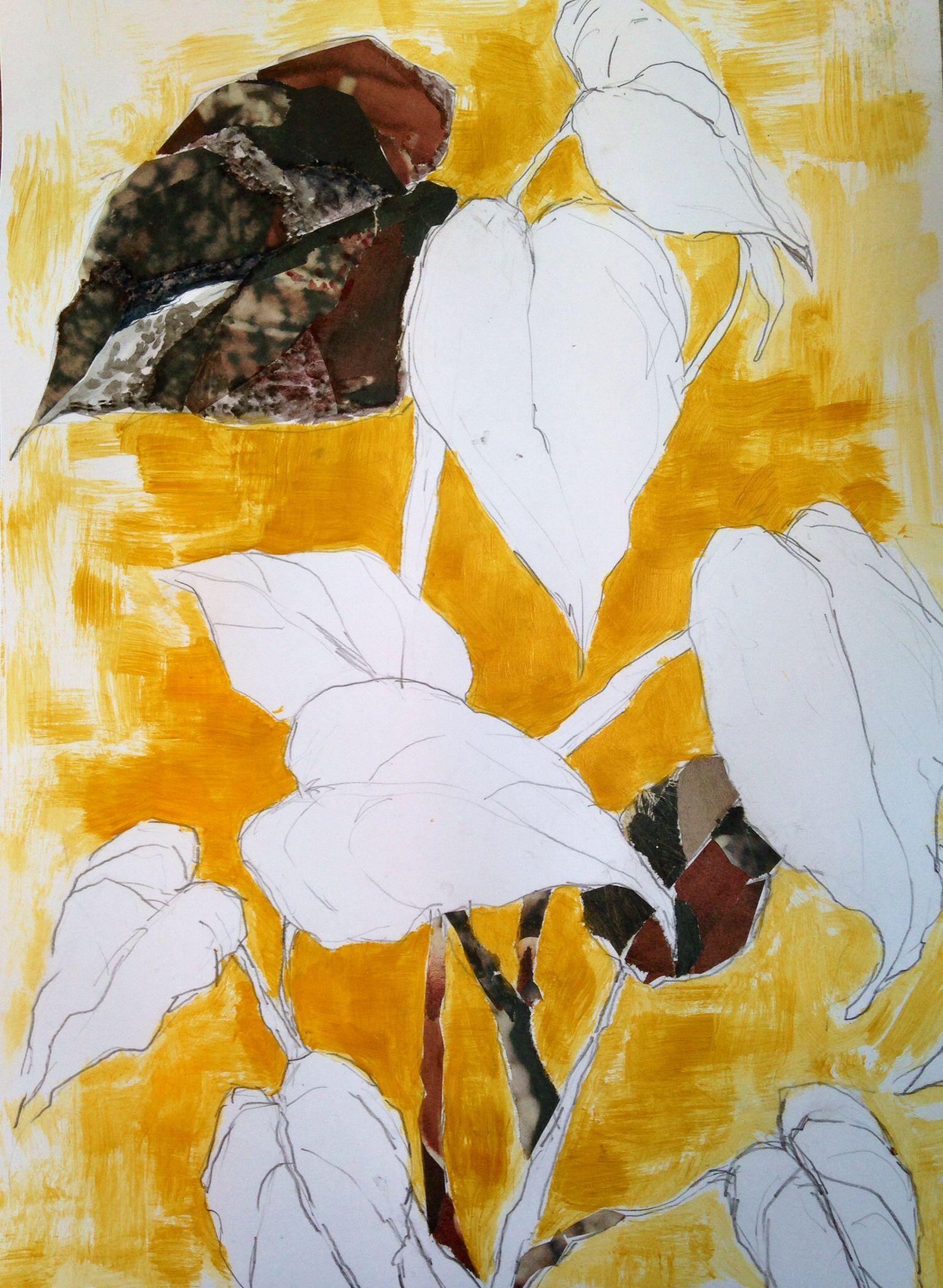 #lindaherrlin #skiss #collage #guldfärg #bild3