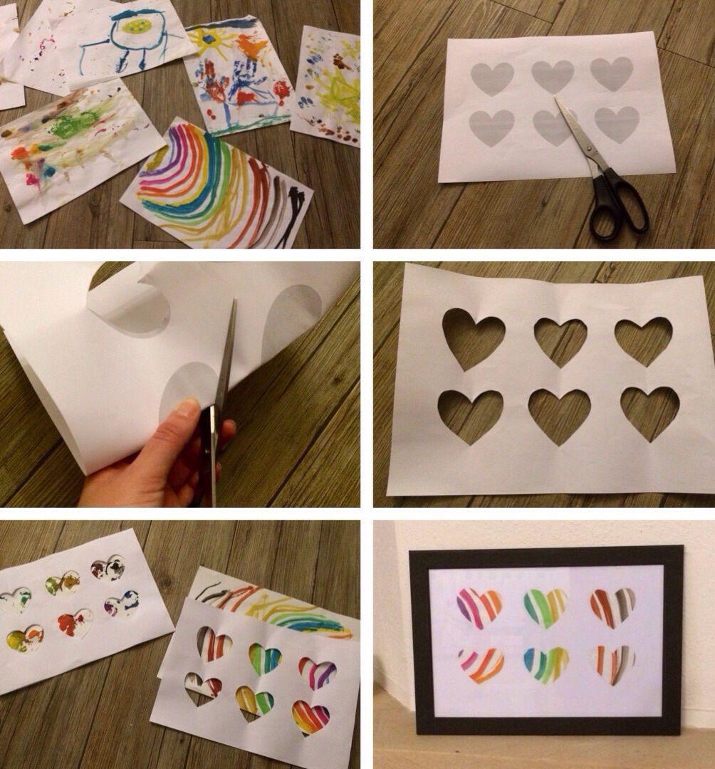 Kunstwerke Aus Kinderbildern Herz Herz Gemalde Und Basteln