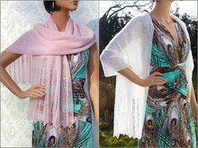 Photo of Schal mit Perlenspitze – elegant oder leger zu tragen – in 2 Größen