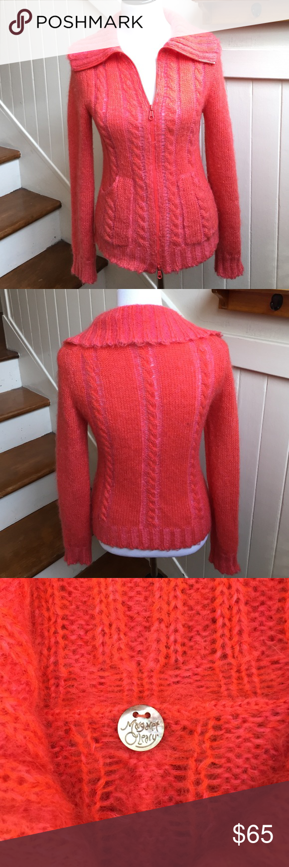 Margaret O'Leary Cable Knit Sweater Jacket San Francisco Based ...