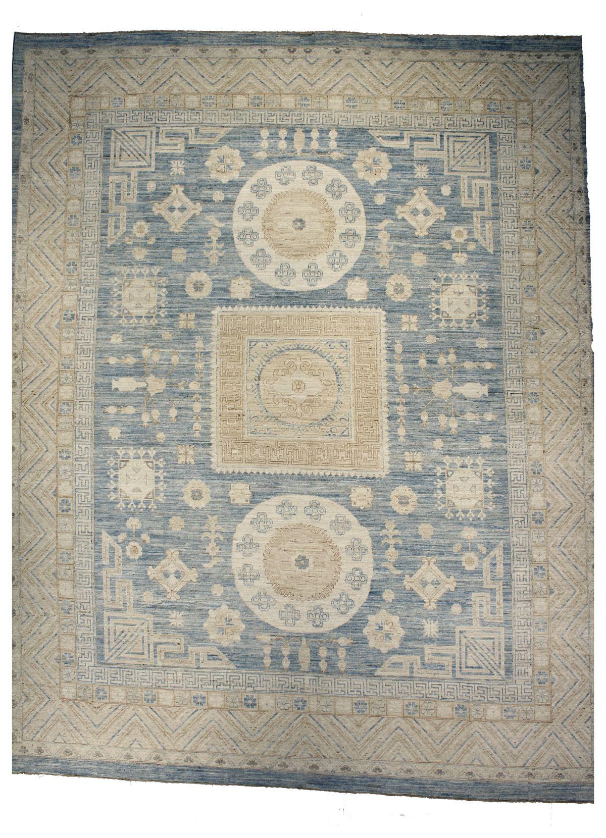 Fj Kashanian 12 X 15 Khotan Rug Cobalt Blue Khotan Rugs Rugs Khotan