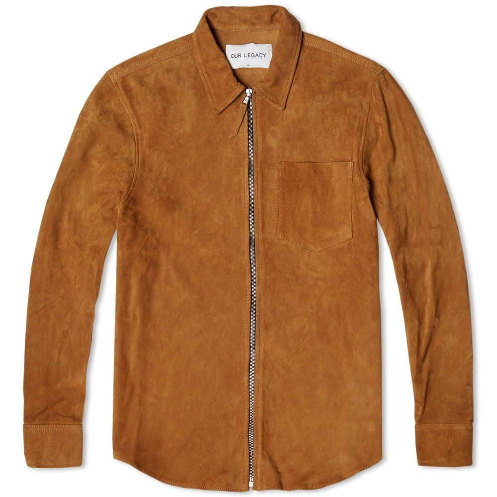 608e665f7b68 Our Legacy Suede Zip Shirt Jacket - END. Exclusive (Camel)