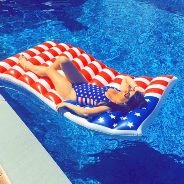 American Flag Giant Pool Float Waving Design Bigmouth Inc