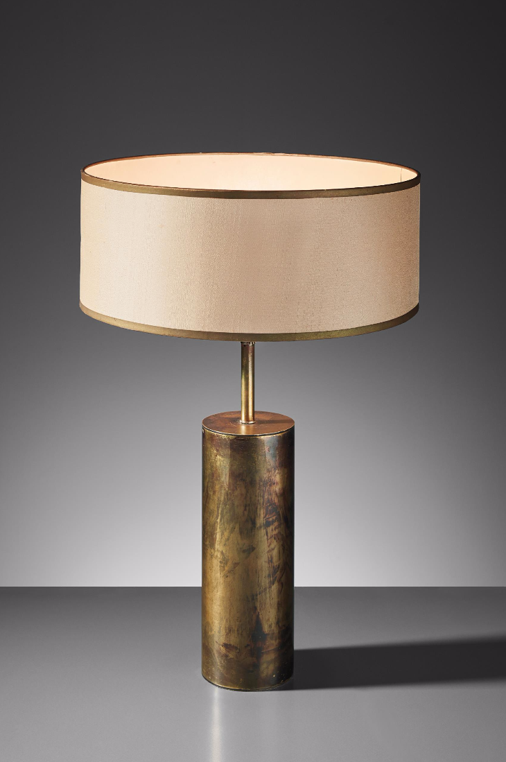 Jacques Quinet Brass Table Lamp From The Zambeze Ocean Liner