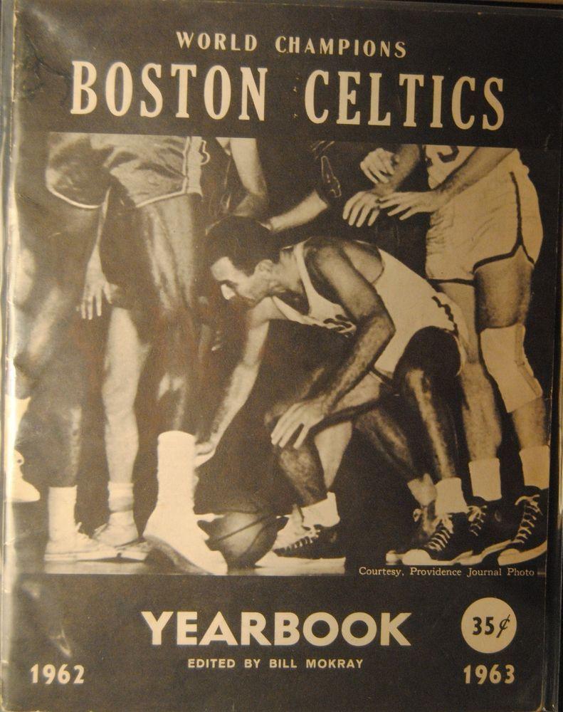1962-1963 World Champion Boston Celtics Yearbook - Bob Cousy Cover ...