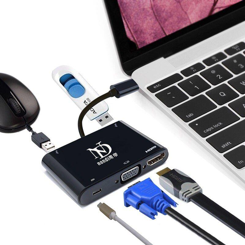 Best Usb3 1 Type C To Hdmi Vga Adapter Converter Usb3 0 Usbc 5in1 Hub Thunderbolt3 Port Compati Macbook Accessories Hdmi Macbook Pro Touch Bar