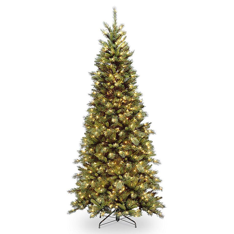 National Tree Company Pre Lit Tiffany Fir Slim Artificial Christmas Tree Bed Bath Beyond Slim Artificial Christmas Trees Fir Christmas Tree Slim Christmas Tree