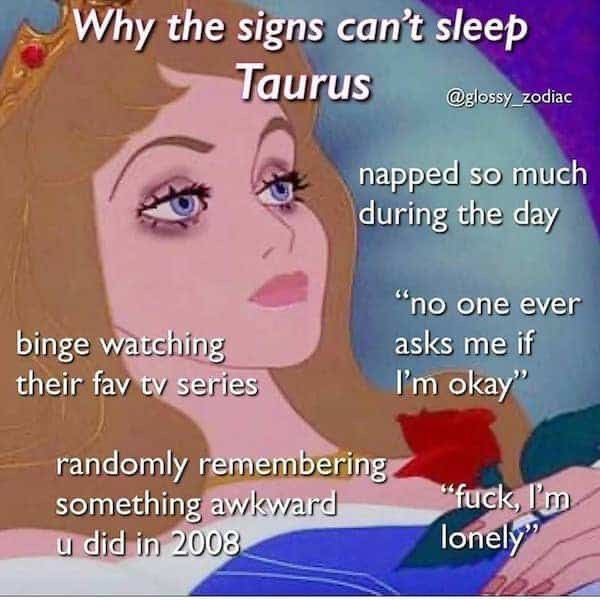 Hilarious and relatable Taurus memes-OurMindfulL. / astrology memes about Taurus personality traits, Taurus facts and problems facts funny