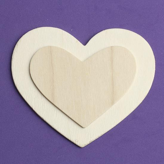 4 Unfinished Wood Layered Heart Cutout Wooden Hearts And Stars Wood Crafts Craft Supplies Wooden Hearts Crafts Unfinished Wood