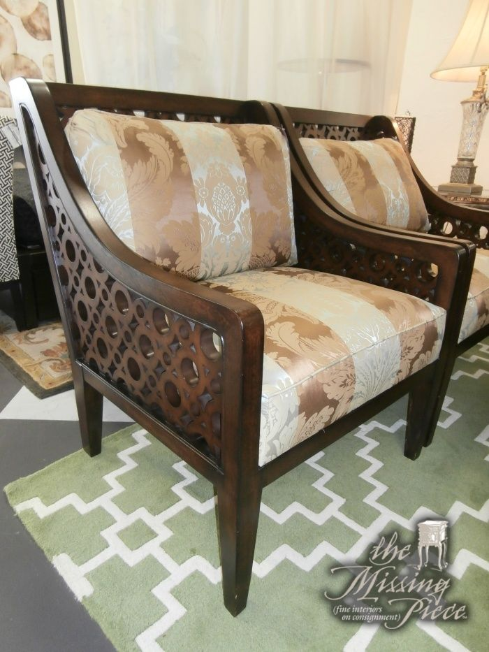 We love this accent chair! Bassett chair in circle designed wood ...