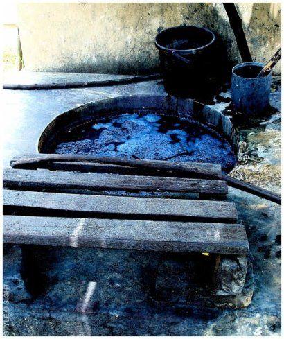 Indigo dye pits.