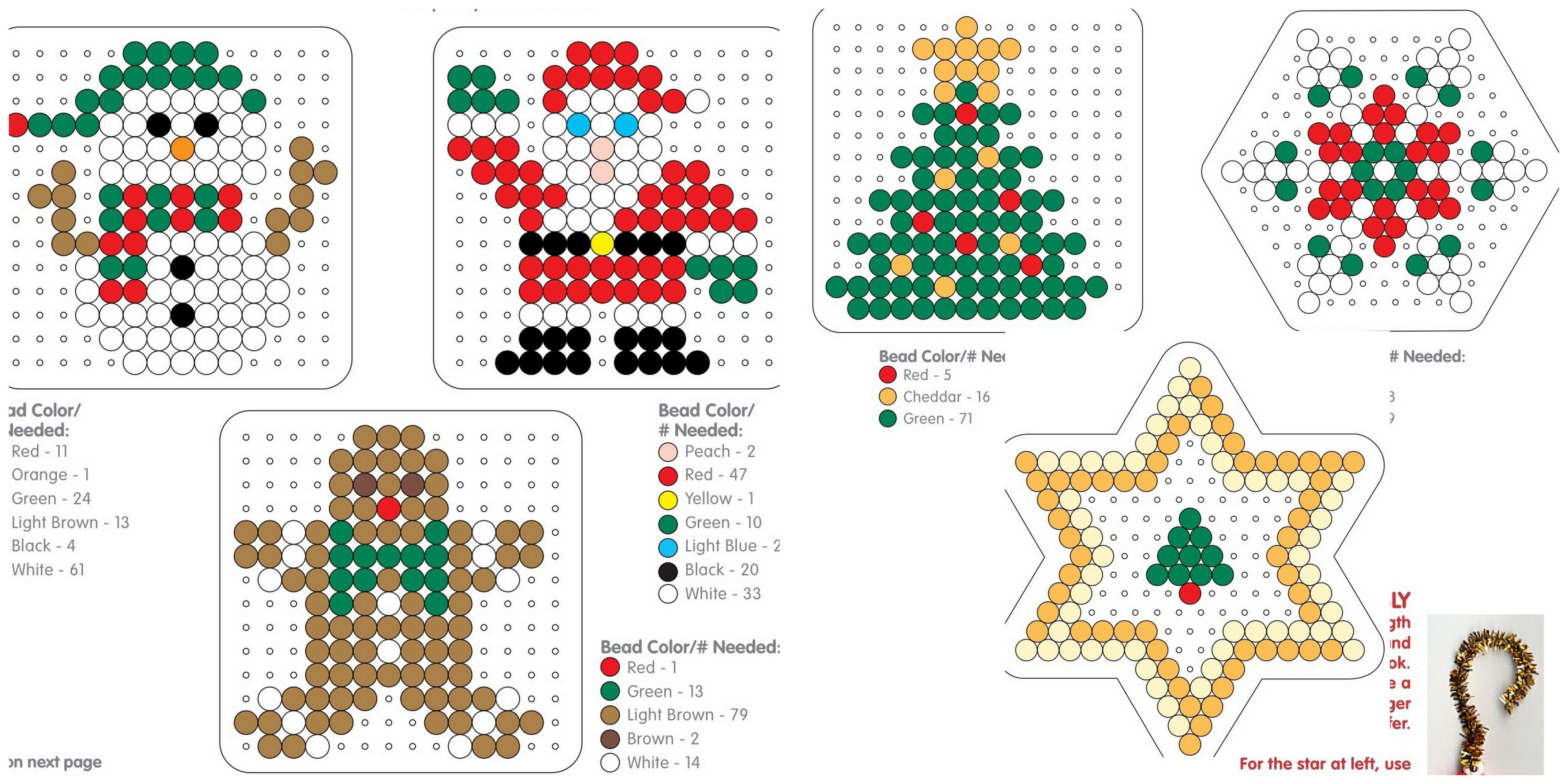 Weihnachten Dekoration Bügelperlen Vorlage Christmas Tree Ornaments