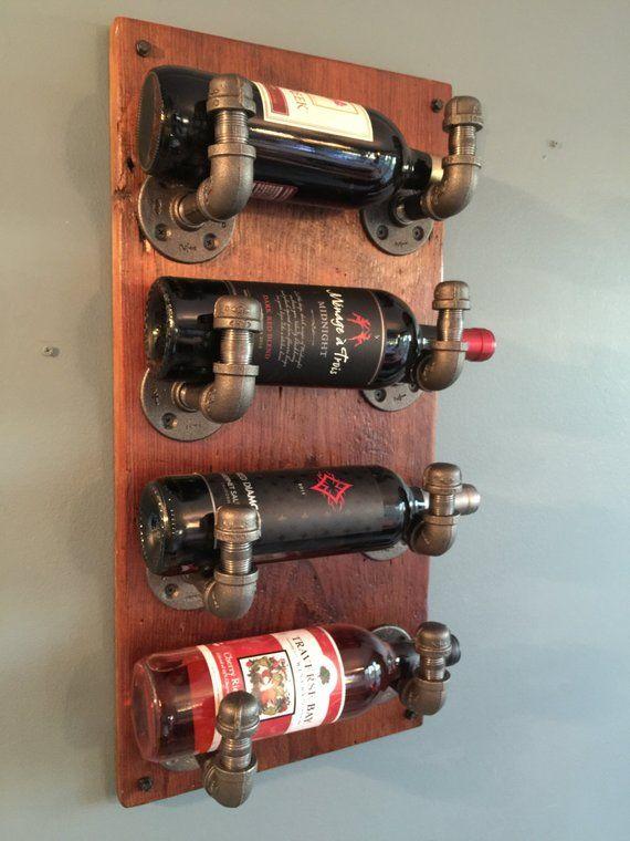 Casier à vin de la canalisation industrielle | Casiers à bouteilles mur, Tuyauterie industrielle ...