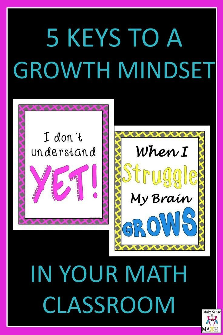 Keys to a Growth Mindset A growth mindset is very important in your math classroom.  Learn how to c