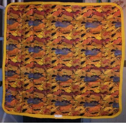 Wild horse print, western saddle pad