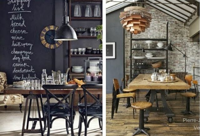 Salle Manger Style Industriel Ide Table Suspension