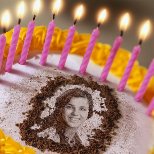 Make a birthday cake greeting with celebrators photo on it cake make a birthday cake greeting m4hsunfo