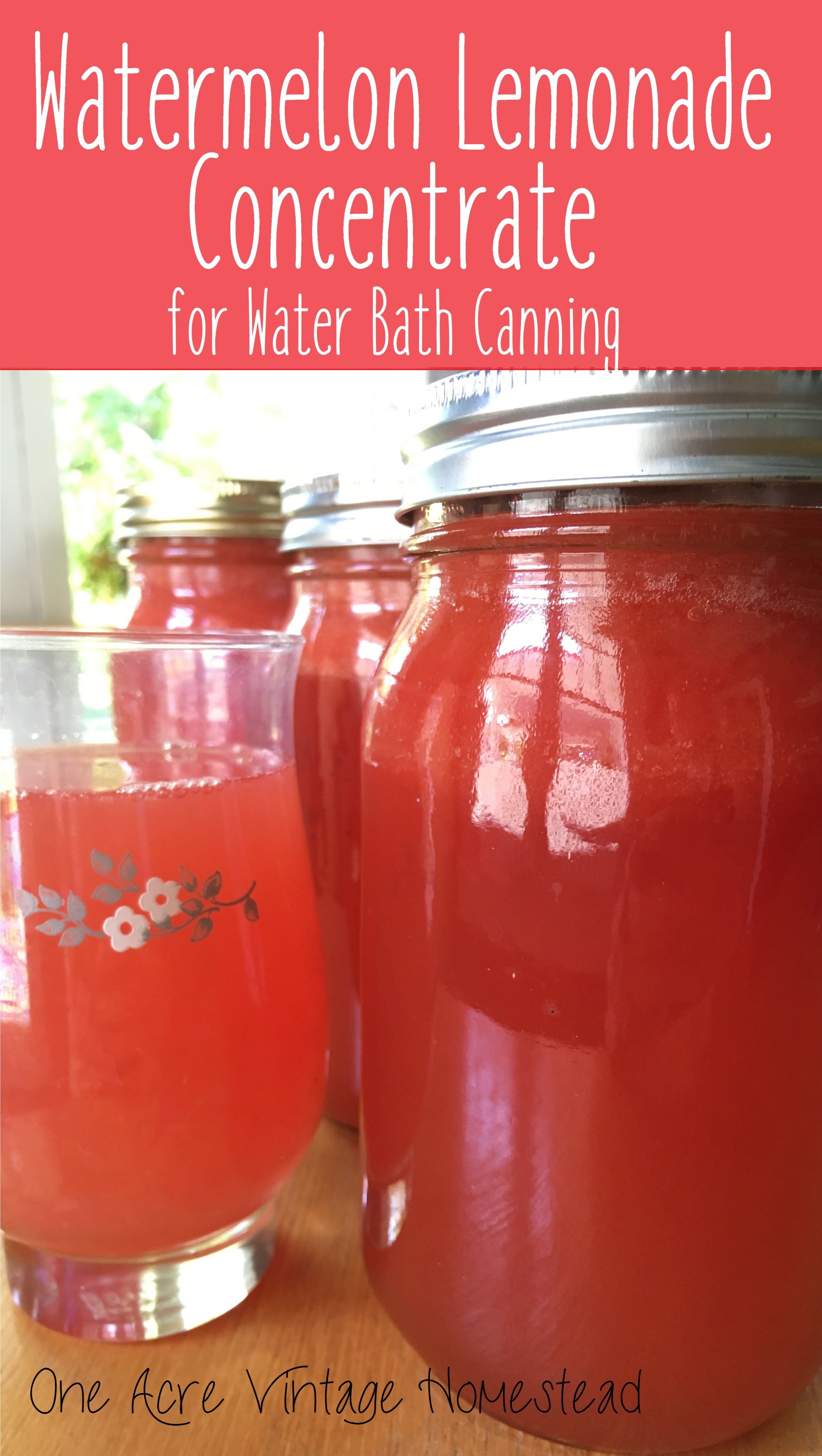 Watermelon Lemonade Concentrate A Water Bath Canning Food Preservation Recipe Recipe Canning Food Preservation Canning Recipes Lemonade Concentrate
