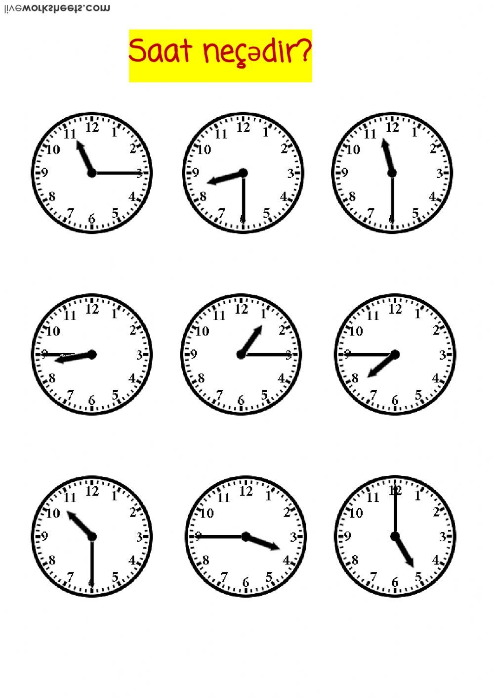 Time interactive and downloadable worksheet. You can do