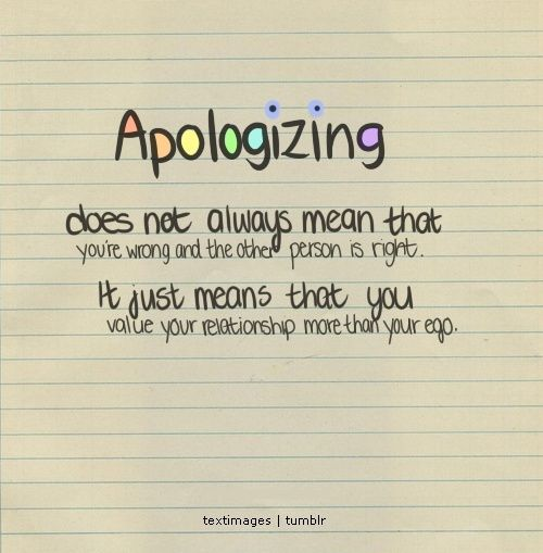 Apology Quotes For Relationships In By Quotesgram  Quotes I Love