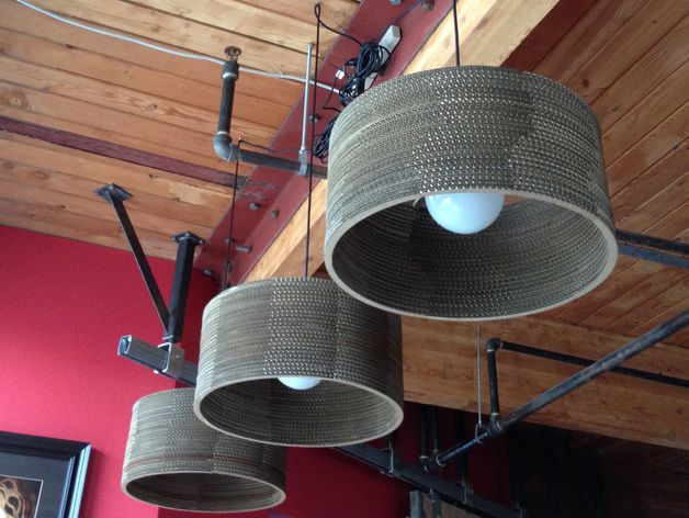 Cylinder Cardboard Lamp 17 Inch By Robmeyer Thingiverse Lamp Cardboard Cylinder