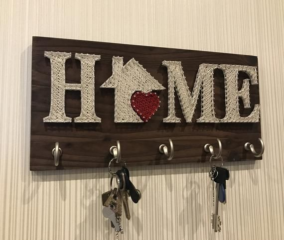 String Art Template Pattern HOME, PDF Design DIY String Art Home, Board For Key at Home