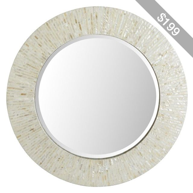 Pier 1 Imports Ivory Mother Of Pearl Mirror 31 Round Mother Of Pearl Mirror Round Mirrors Mirror Mother of pearl wall mirror