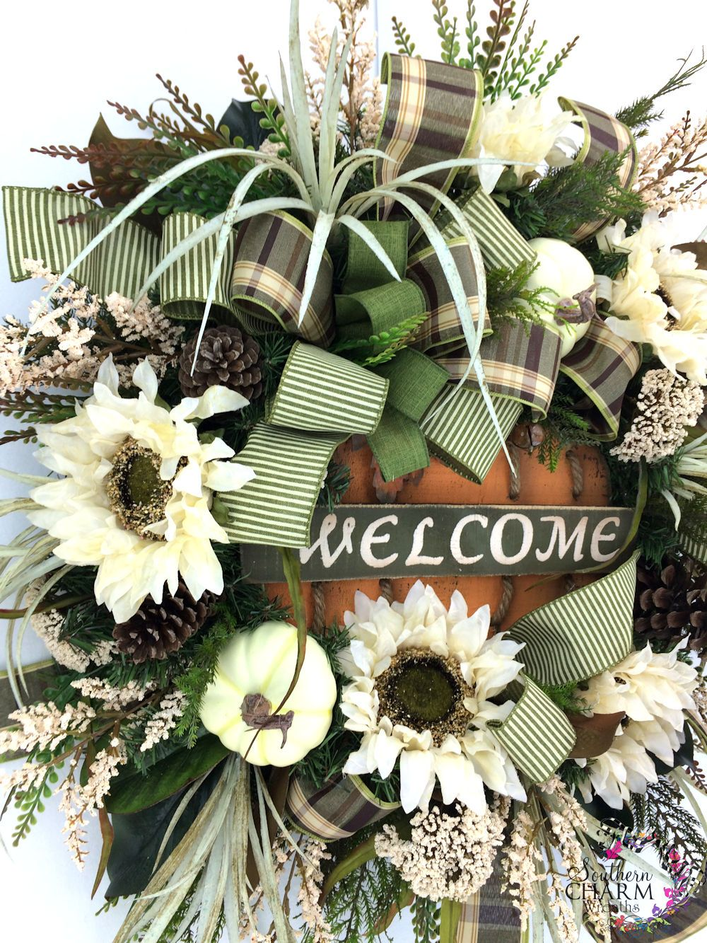 Diy silk flower nutcracker christmas wreath fall wreaths