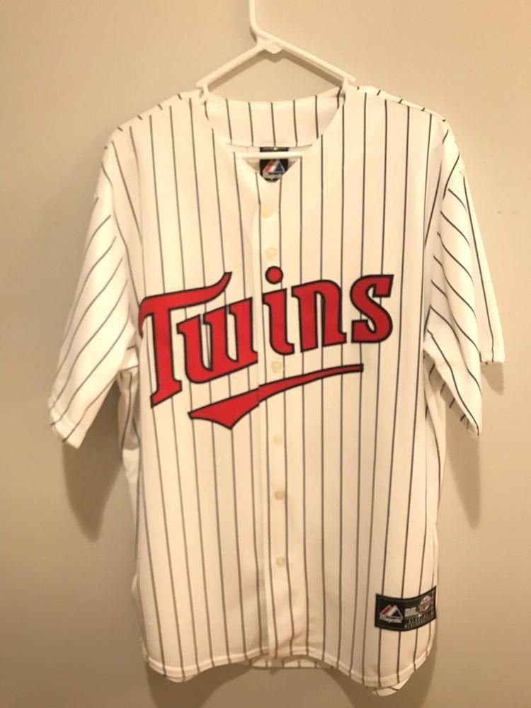 0e80c75d8 Majestic Minnesota Twins Jersey MLB baseball Mens Size Large   10.00 (0  Bids) End Date  Tuesday Oct-23-2018 21 28 21 PDT Buy It Now for…
