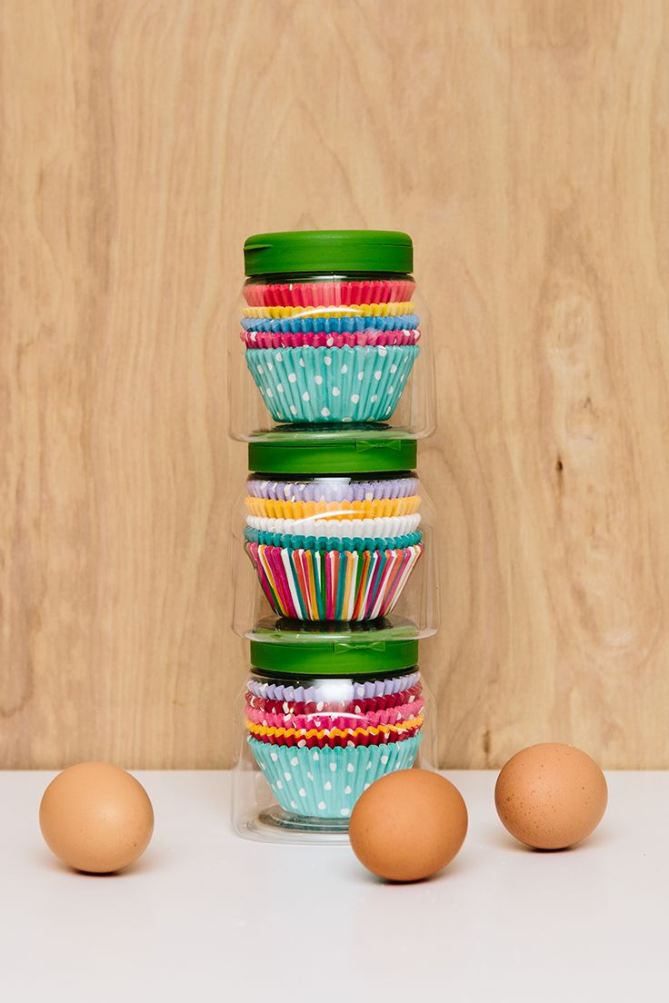 It can be your favorite baking assistant when it's done being one of your favorite baking products. Try storing extra cupcake liners in your empty Truvia® Natural Sweetener Spoonable containers!