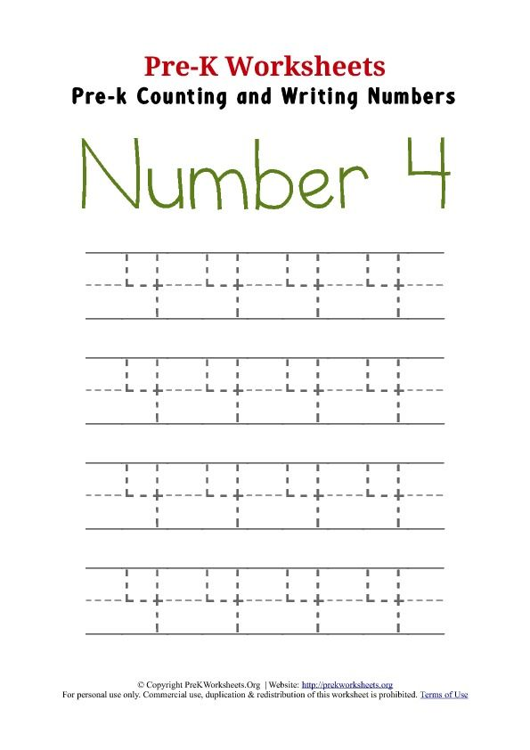 Writing Number 4 Numbers Preschool Writing Numbers