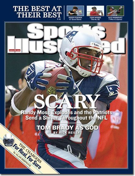 Randy Moss was the main reason Tom Brady had the MVP season and the Patriots went 16-0. Moss was first offered to Thompson that spring. The Packers, you'll recall, fell just short of the Super Bowl that year, won by the Giants over those Patriots.