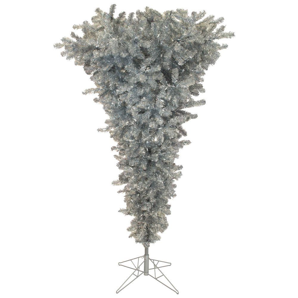 Vickerman 9 Green Upside Down Artificial Christmas Tree with 1000 Clear lights * To view further ...