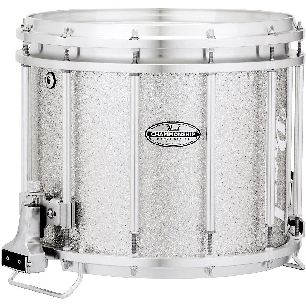 Pearl Championship Maple FFX Marching Snare Drum 14 X 12 In Silver Sparkle