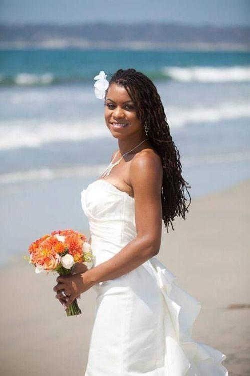 beach bride braided hair