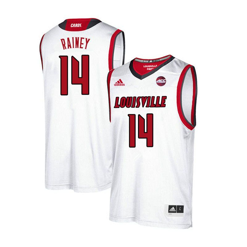 c8e9ee965 Men Louisville Cardinals  14 Will Rainey College Basketball Jerseys  Sale-White