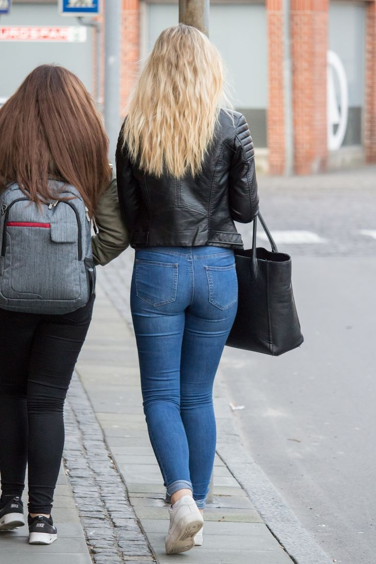 Ass In Jeans Skinny Teen 14