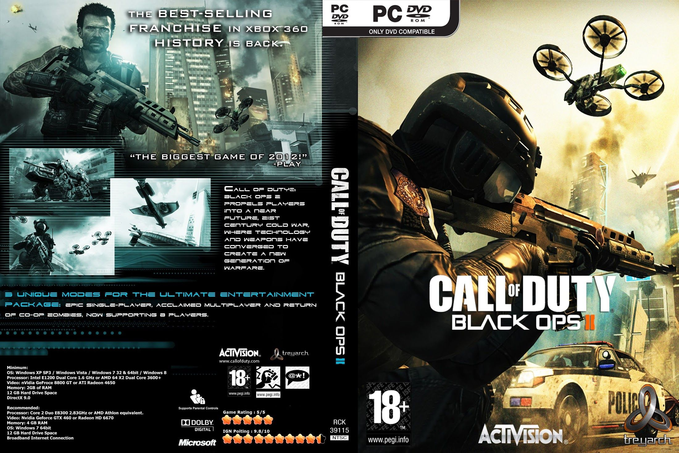 Call of duty black ops 2 pc dvdrom cover
