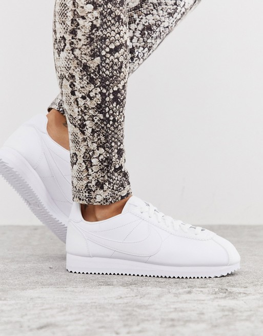 Nike Cortez leather trainers in triple