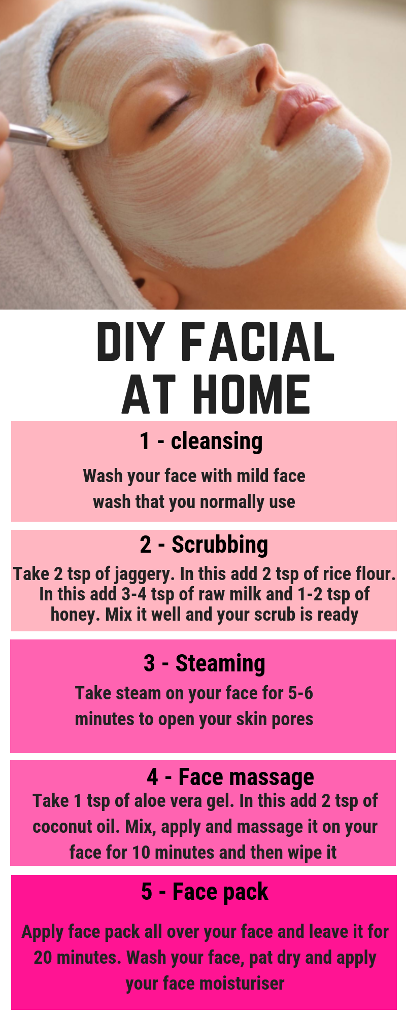 these steps to do DIY Facial. Get Fairer and Glowing Skin Instantly Follow These Steps To Do DIY Facial. Get Fairer And Glowing Skin InstantlyFollow These Steps To Do DIY Facial. Get Fairer And Glowing Skin Instantly