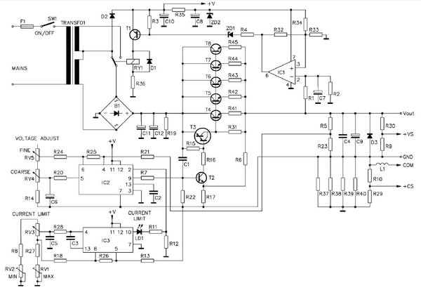 Sursa 0 30v 0 10a Pagina 19 Alimentatoare Elforum Forumul Electronistilor In 2020 Electronic Schematics Circuit Diagram Zdroje
