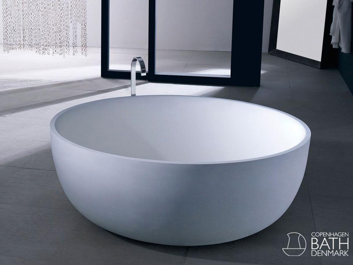 Rundt og fritstående | Bathroom ideas | Pinterest