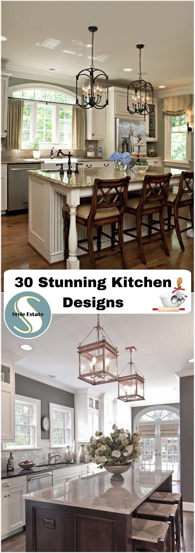 30 Stunning Kitchen Designs   Küche, Ideen für die Küche und Die küche