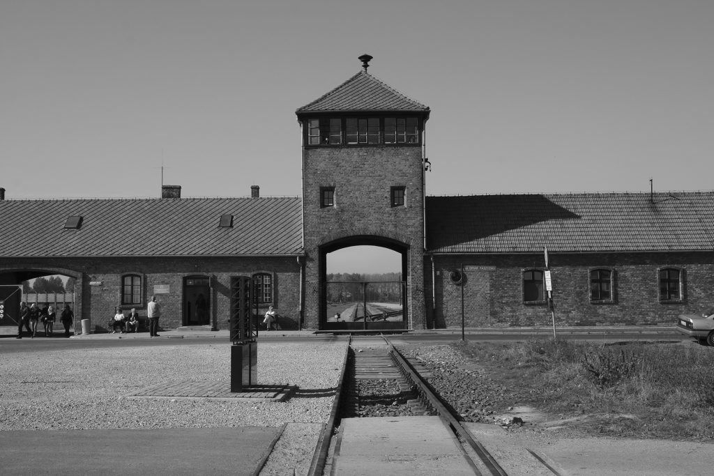Image result for the holocaust, concentration camps entrance