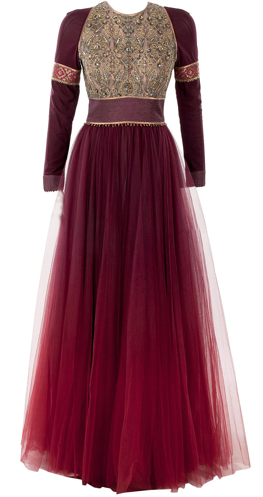 Maroon Ombre Anarkali Set Available Only At Pernia S Pop Up Shop Pakistani Dresses Fashion Dresses