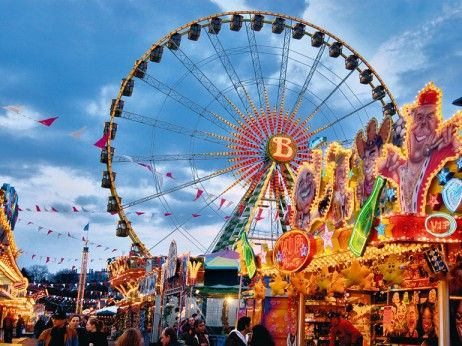 Autumn Dippemess Frankfurt Germany Fair Rides Fair Pictures Germany