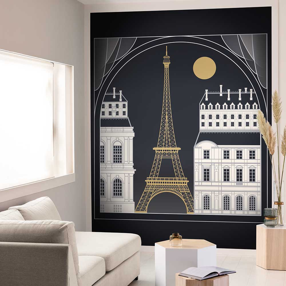 Paris By Night by Caselio Black Mural 100529899 in