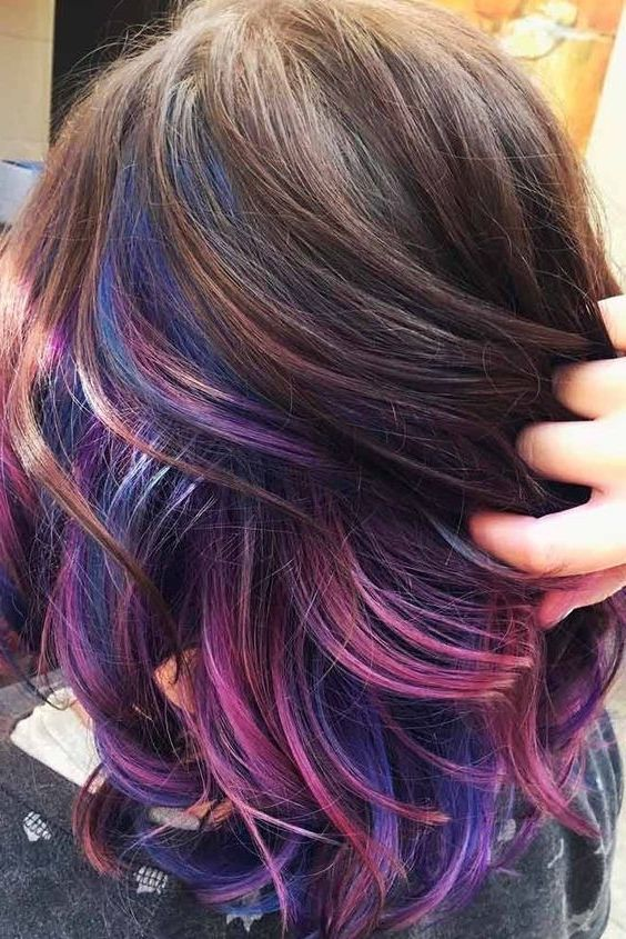 50 Purple Hair Color Ideas For Brunettes You Will Love In 2020 With Images Dark Purple Hair Hair Color Purple Brunette Hair Color