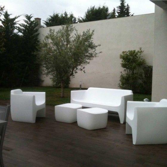 canap d 39 ext rieur blanc club hd terrasse pinterest. Black Bedroom Furniture Sets. Home Design Ideas