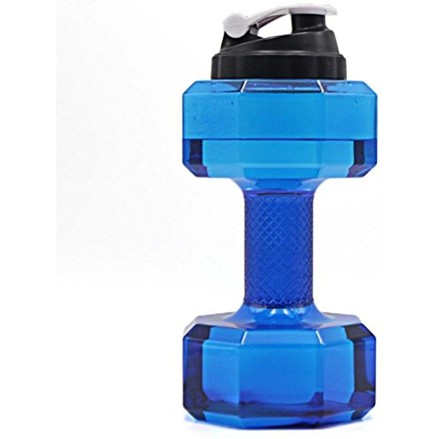 2.2L Dumbbells Shaped PP Outdoor Fitness Exercise Gym Sports Water Bottle